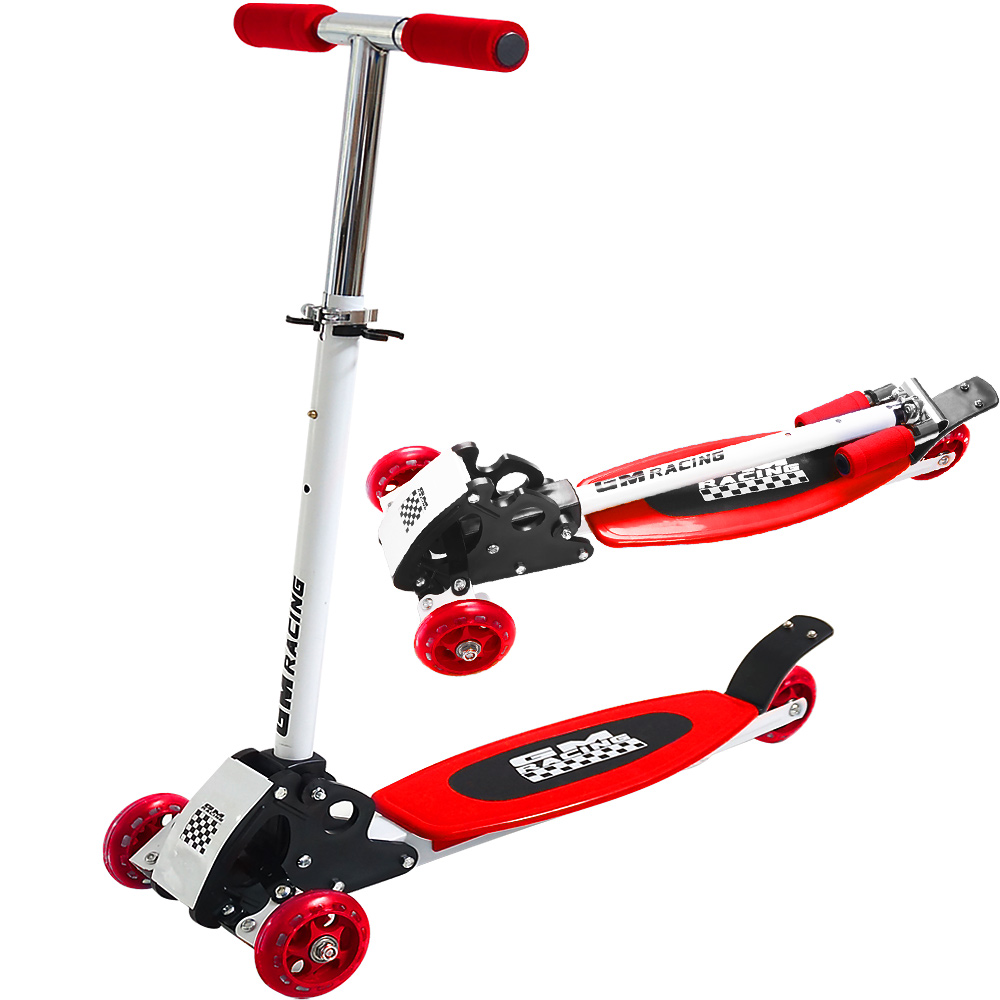 kick scooter red 3 wheel roller scooter tricycle kids