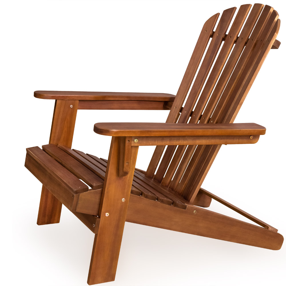 Wooden foldable chair adirondack wood patio outdoor garden for Deck furniture