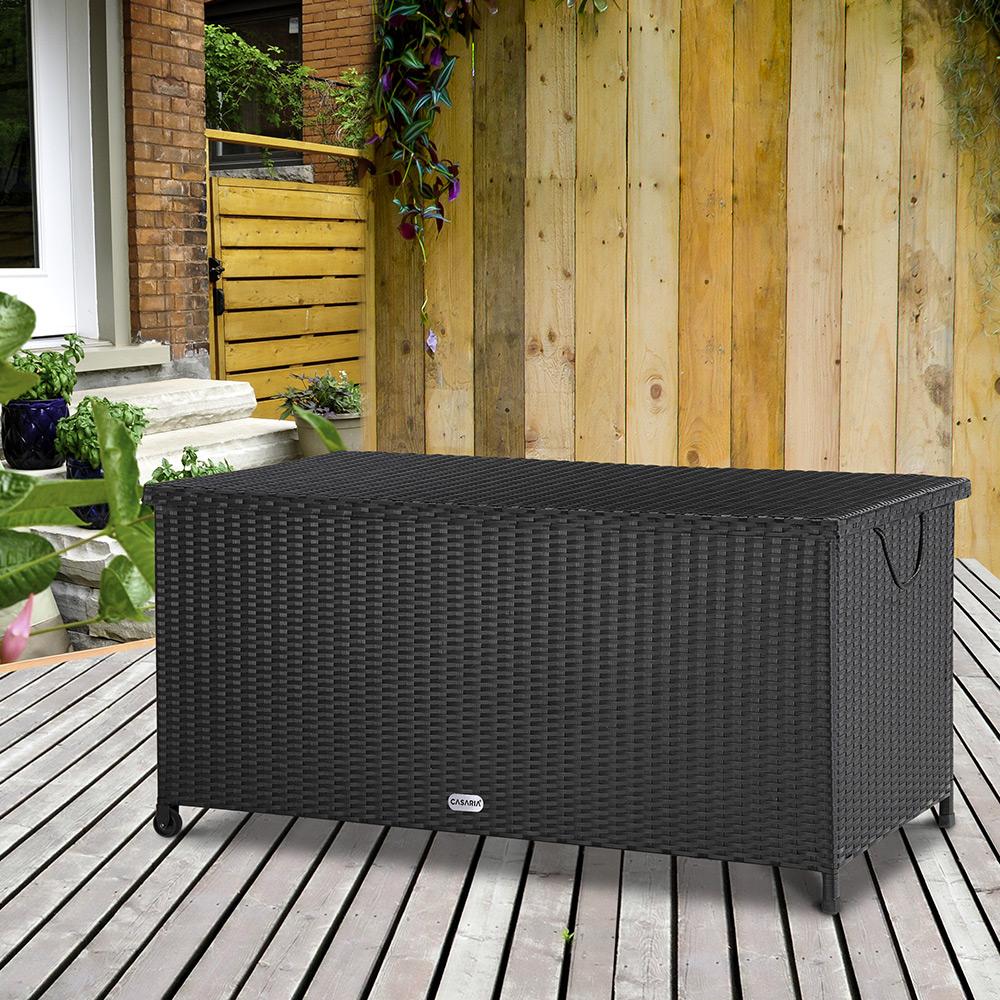auflagenbox polyrattan gartenbox kissenbox gartentruhe aufbewahrungsbox kiste ebay. Black Bedroom Furniture Sets. Home Design Ideas