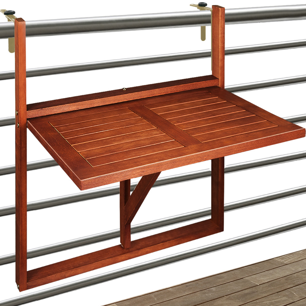 Wooden hanging balcony table from acacia hardwood for To the table