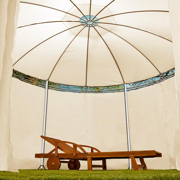 pavillon toscana 3 5m beige rund gartenpavillonpavillion. Black Bedroom Furniture Sets. Home Design Ideas