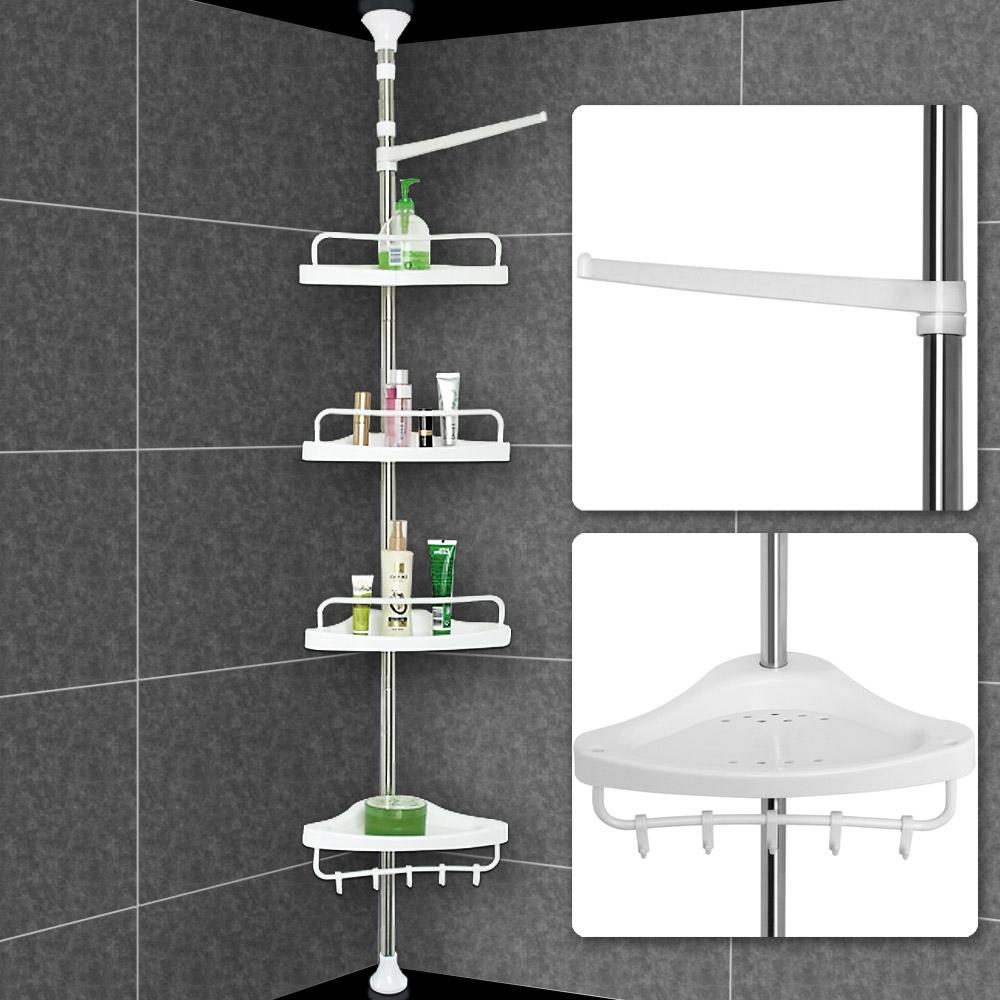 Telescopic Bathroom Shower Shelf Adjustable Corner Rack 4