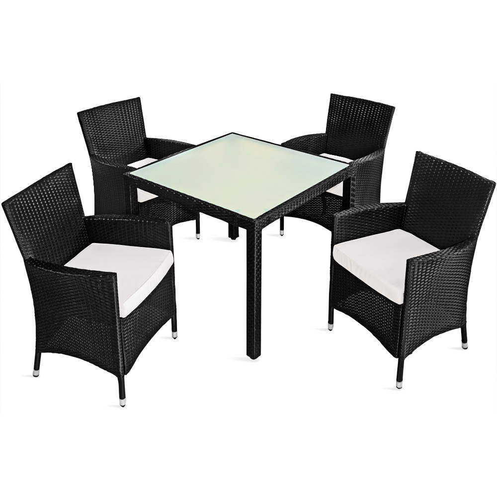 polyrattan sitzgruppe sitzgarnitur gartenm bel essgruppe gartenset garten 1 4 ebay. Black Bedroom Furniture Sets. Home Design Ideas