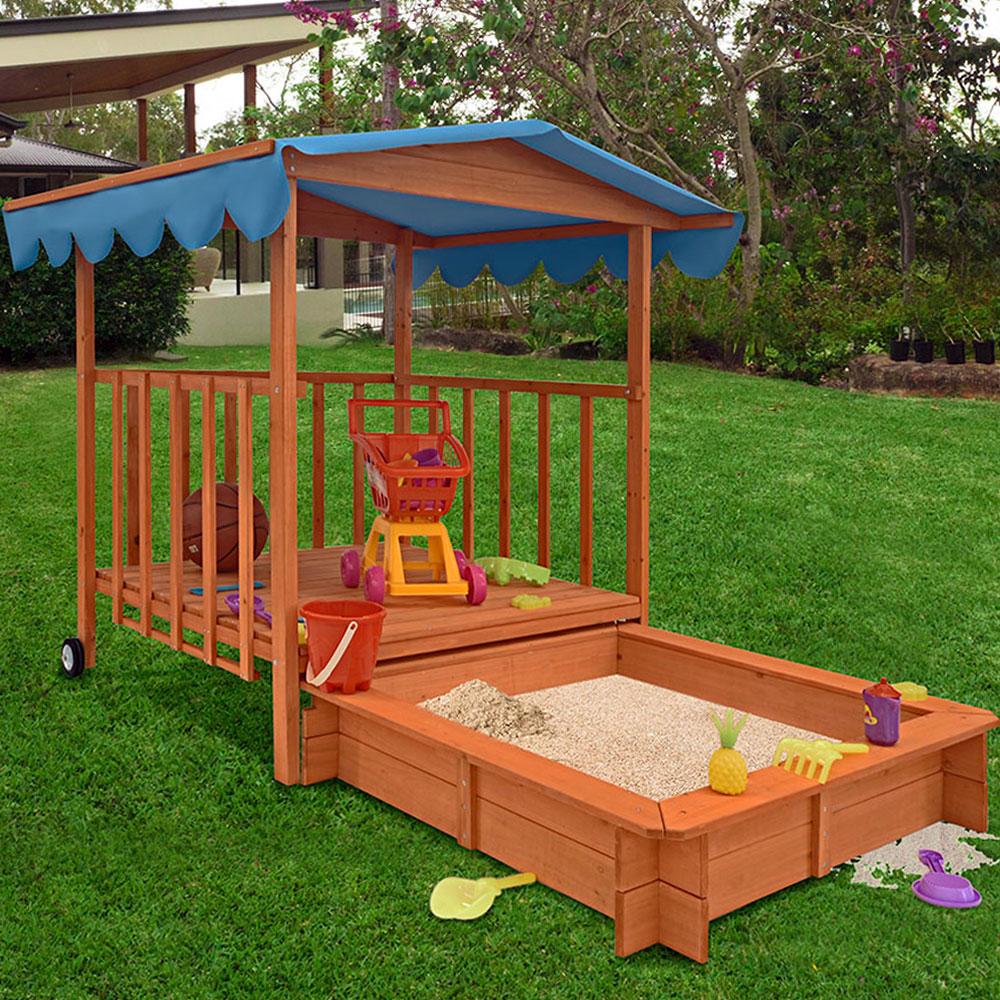 sandkasten mit dach xl kinder spielveranda spielhaus. Black Bedroom Furniture Sets. Home Design Ideas