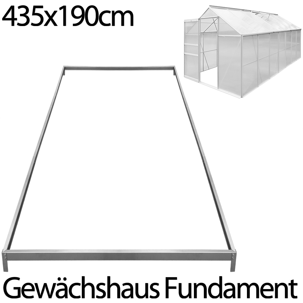 fundament stahl gew chshaus treibhaus fr hbeet tomatenhaus garten 435x190cm ebay. Black Bedroom Furniture Sets. Home Design Ideas