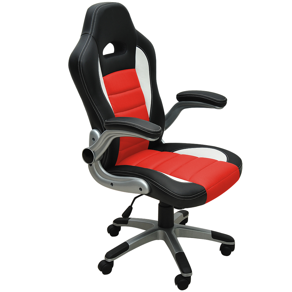 Office desk chairs pu computer swivel gaming executive for Chaise gamer pc