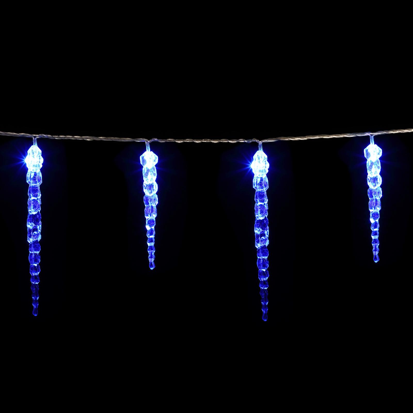 40 led lichterkette eiszapfen fensterdeko winter for Illumination exterieur