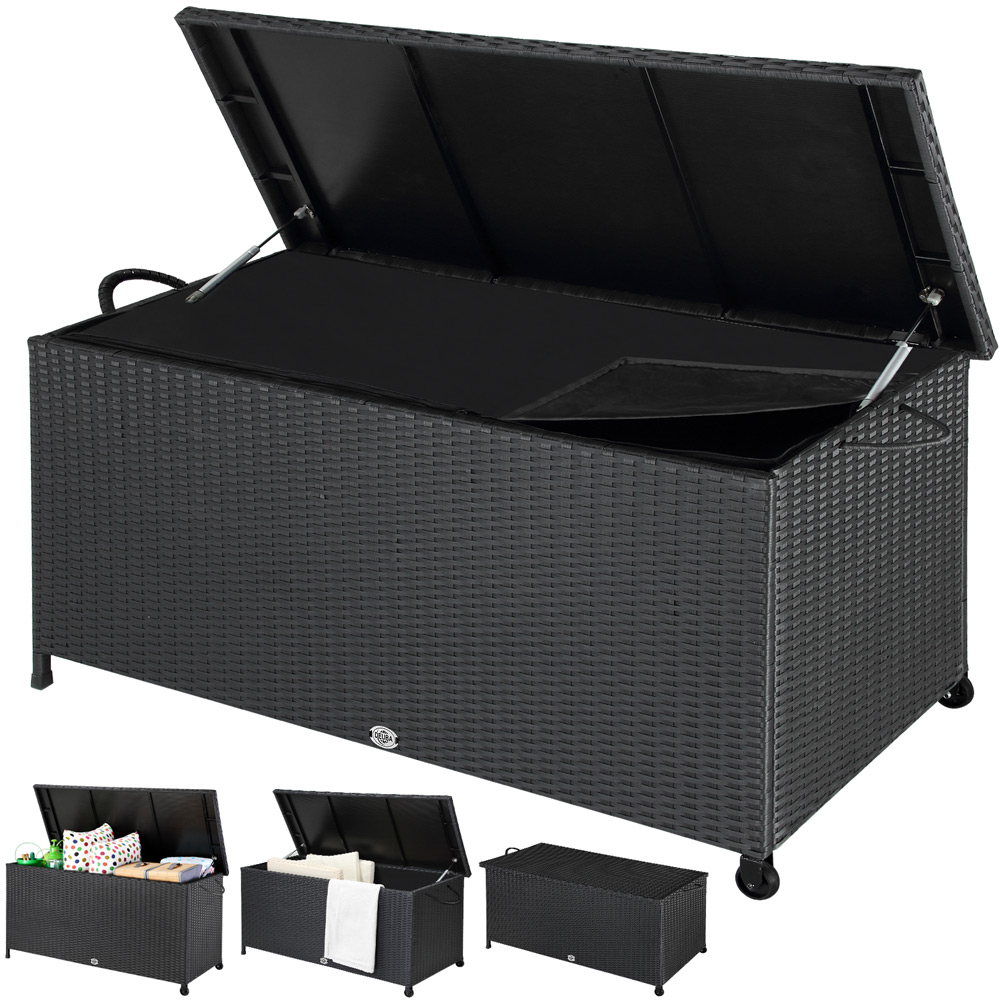 auflagenbox truhe gartenbox kunststoff gartentruhe box kissenbox kisentruhe 320l ebay. Black Bedroom Furniture Sets. Home Design Ideas
