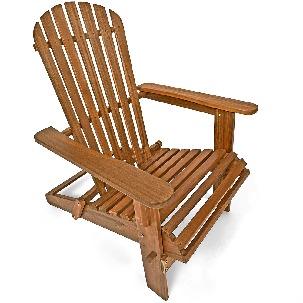 adirondack garden chair wooden patio deckchair folding. Black Bedroom Furniture Sets. Home Design Ideas