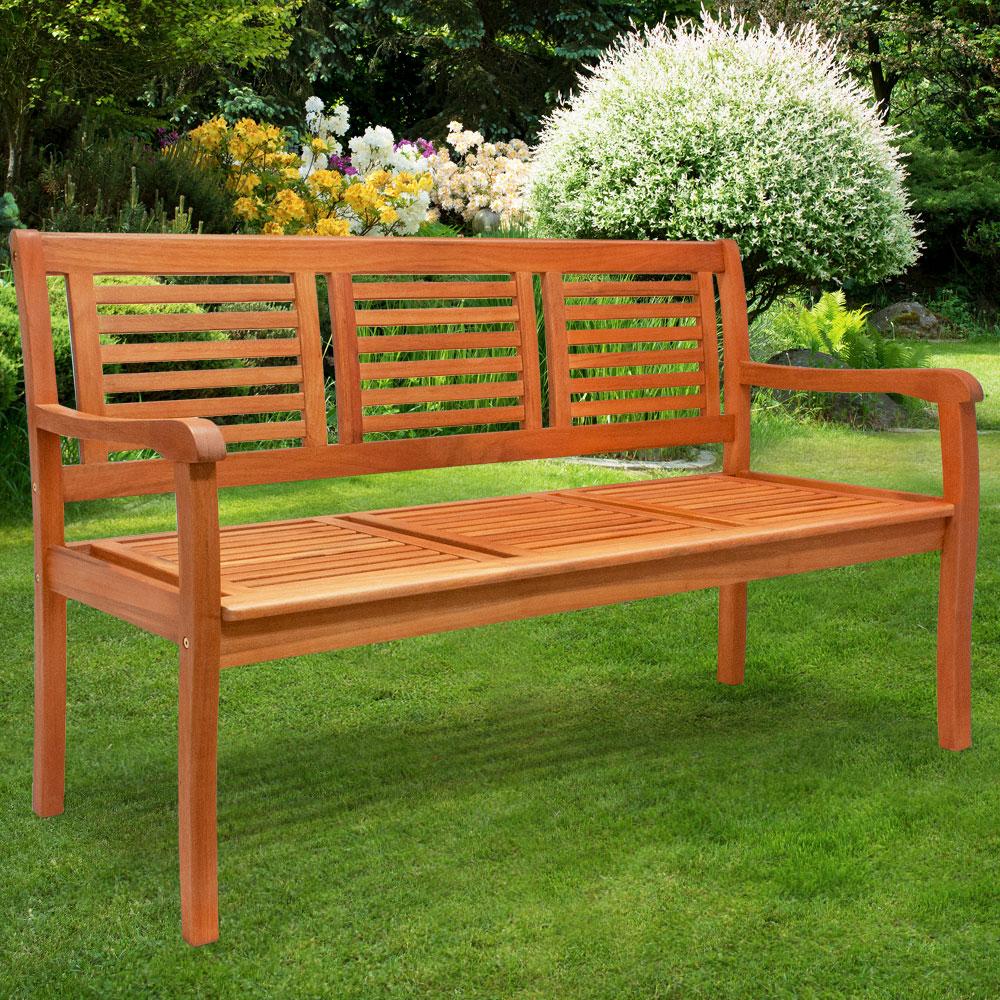 banc de jardin 3 places eucalyptus pr huil certifi fsc. Black Bedroom Furniture Sets. Home Design Ideas