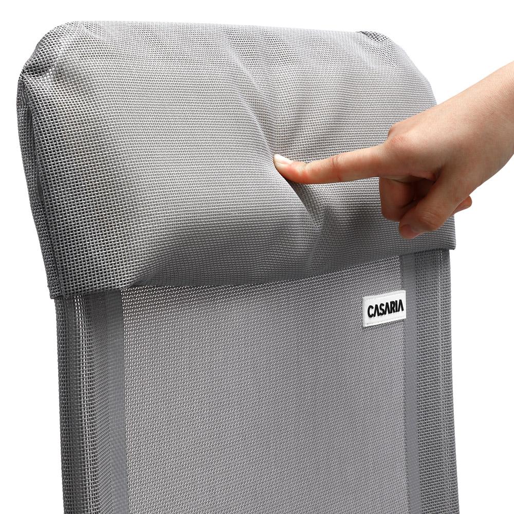 2x klappstuhl aluminium hochlehner liegestuhl liege campingstuhl gartenstuhl alu ebay. Black Bedroom Furniture Sets. Home Design Ideas
