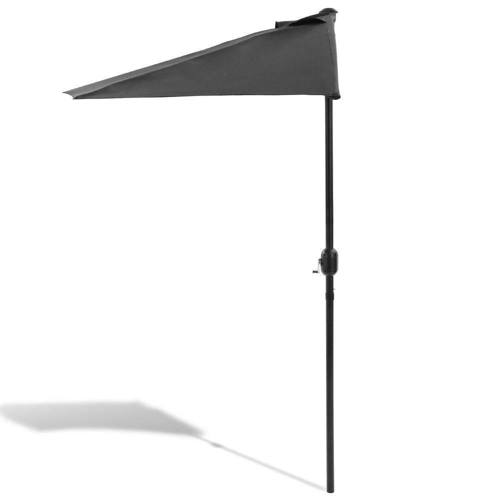 sonnenschirm balkonschirm halbrund 3m terrassenschirm uv. Black Bedroom Furniture Sets. Home Design Ideas