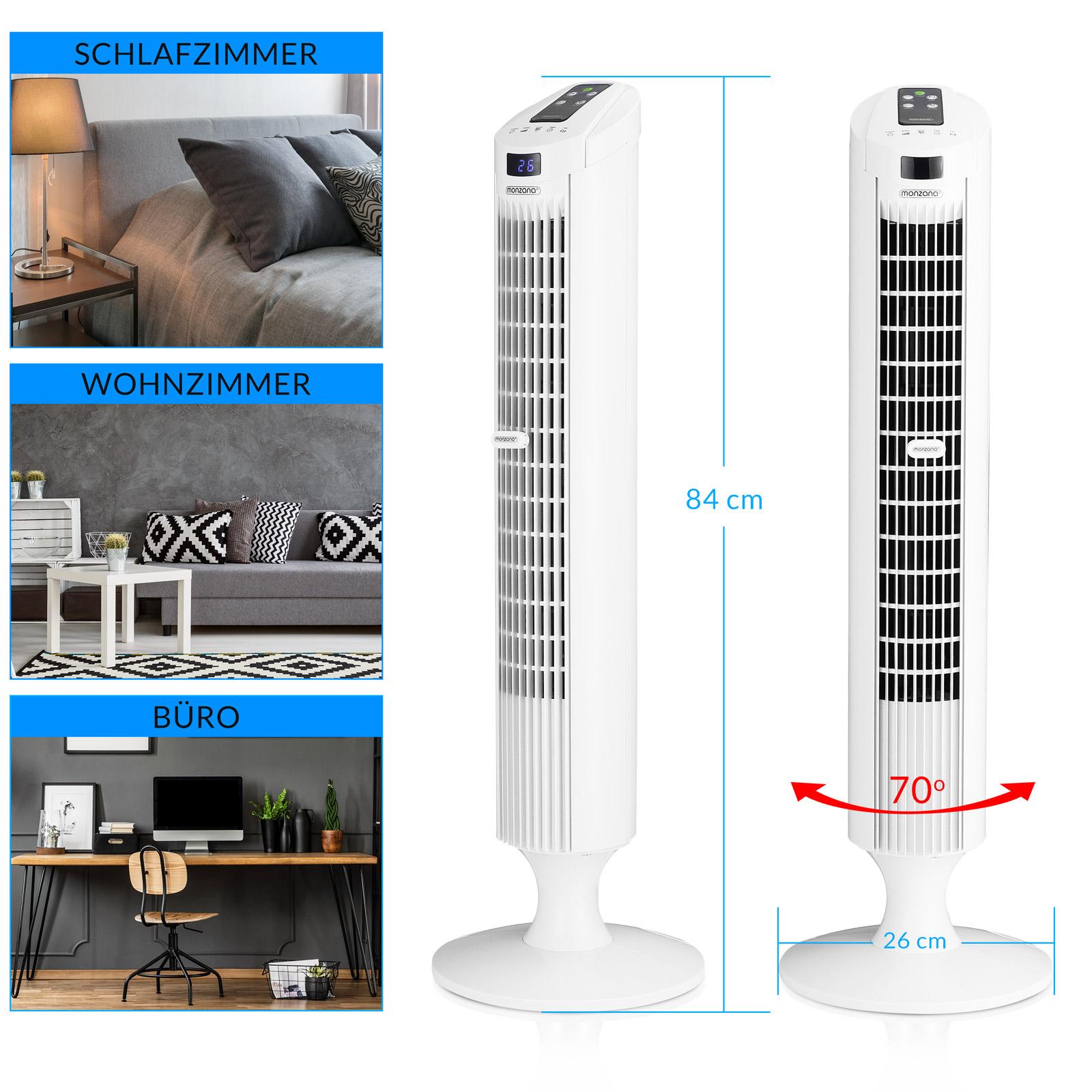 ventilateur colonne oscillant turbo fonction 3 vitesses de ventilation. Black Bedroom Furniture Sets. Home Design Ideas