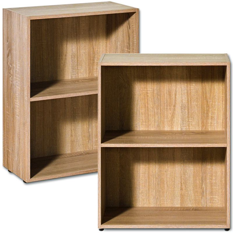 Oak Bookcase Shelf Wooden Shelves Bookshelf 77cm Shelving