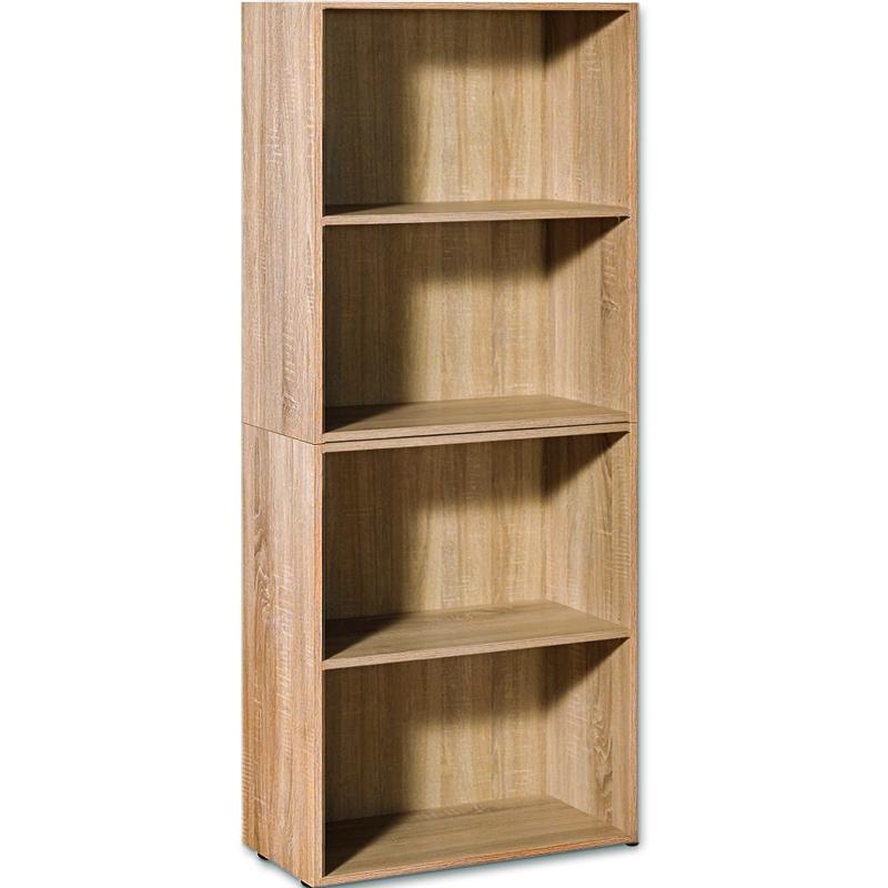 Etag res biblioth que effet bois 2 tages meuble - Jeu de rangement de chambre ...