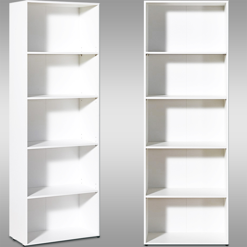 Bookcase shelf wooden shelves bookshelf solid shelving unit deep white bookca - Etagere blanc laque ikea ...