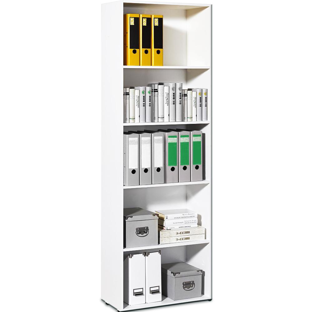 white bookcase shelf tall wood effect shelves bookshelf 192cm shelving unit deep ebay. Black Bedroom Furniture Sets. Home Design Ideas