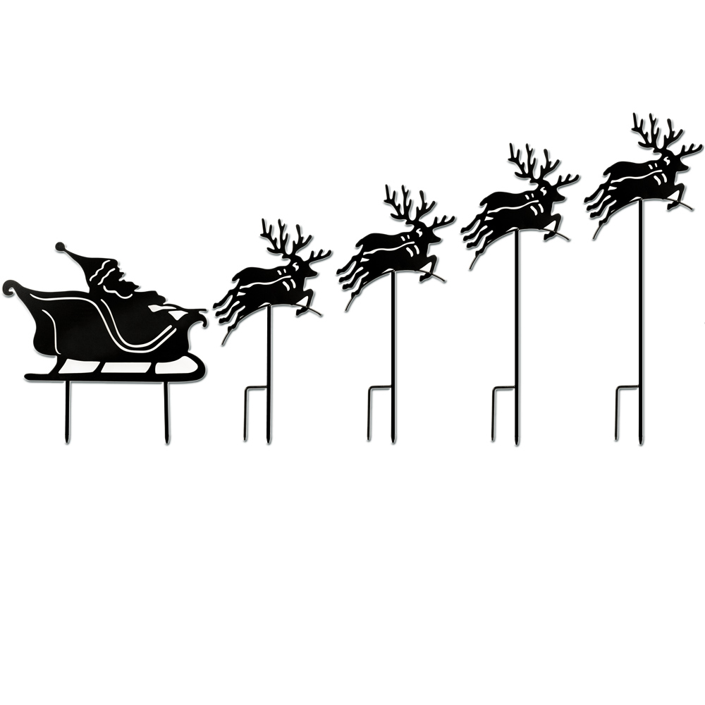 Christmas-garden-decoration-Santa-sleigh-reindeer-outdoor-christmas-ornament