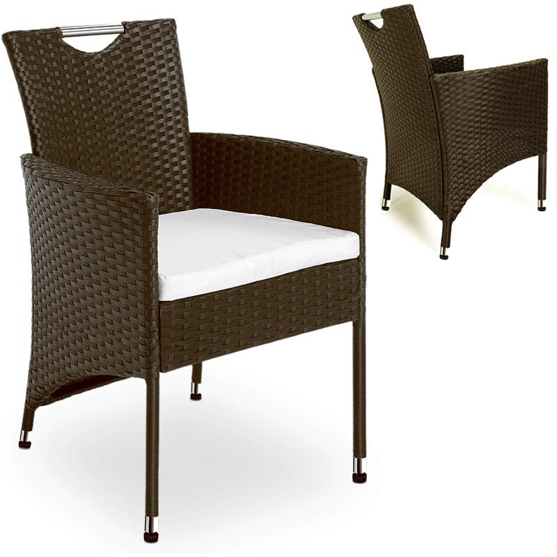 2x set rattan polyrattan stuhl sessel st hle gartenstuhl. Black Bedroom Furniture Sets. Home Design Ideas