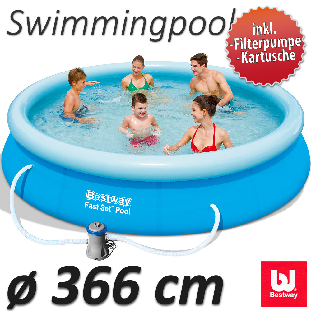 Quickup pool 366x76cm 57274 swimmingpool schwimmbad for Pool selbstaufstellend