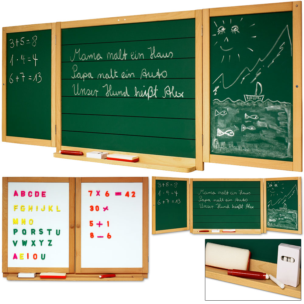 kindertafel schultafel kreidetafel whiteboard maltafel tafel spieltafel kreide. Black Bedroom Furniture Sets. Home Design Ideas