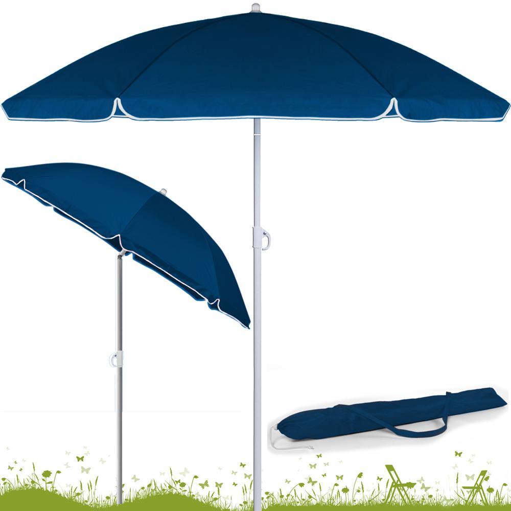 Height adjustable parasol 180cm sunshade umbrella beach garden shade 4 colors - Parasol rectangulaire inclinable castorama ...