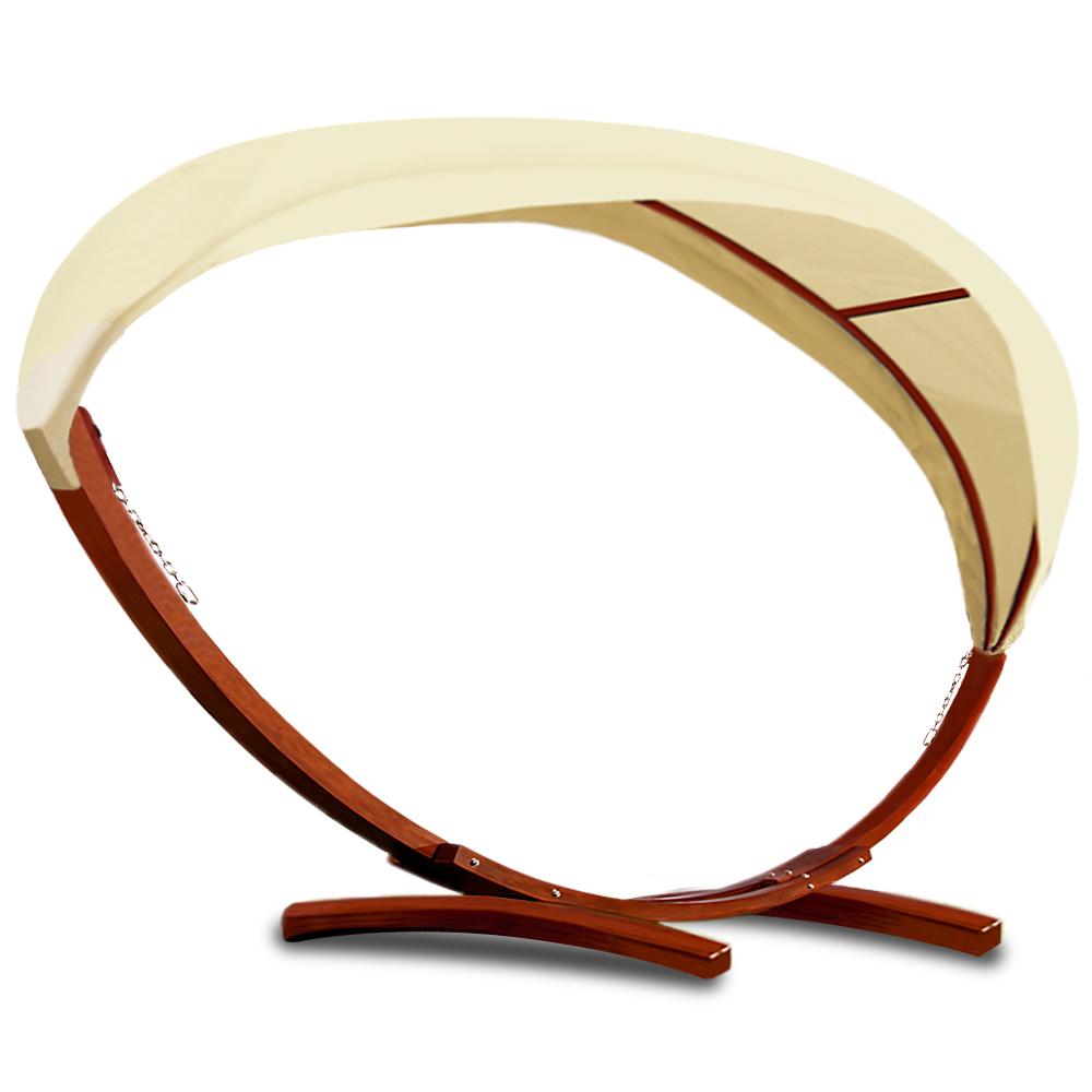 cadre avec toit pour hamac en bois xxl support hamac lit suspendu de jardin ebay. Black Bedroom Furniture Sets. Home Design Ideas