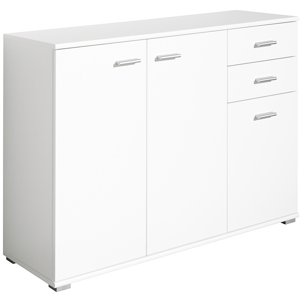 cs schmal sideboard storage cabinet wooden cupboard buffet chest drawers white ebay. Black Bedroom Furniture Sets. Home Design Ideas