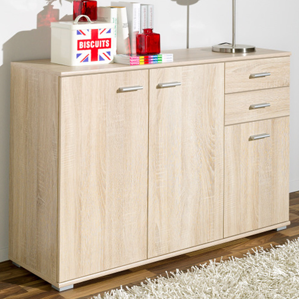 cs schmal sideboard highboard kommode mehrzweckschrank. Black Bedroom Furniture Sets. Home Design Ideas