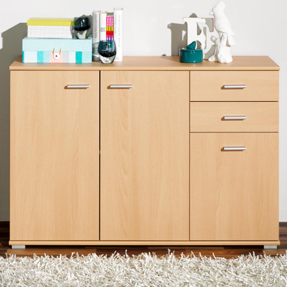 cs schmal sideboard highboard kommode mehrzweckschrank b cherregal wandregal. Black Bedroom Furniture Sets. Home Design Ideas