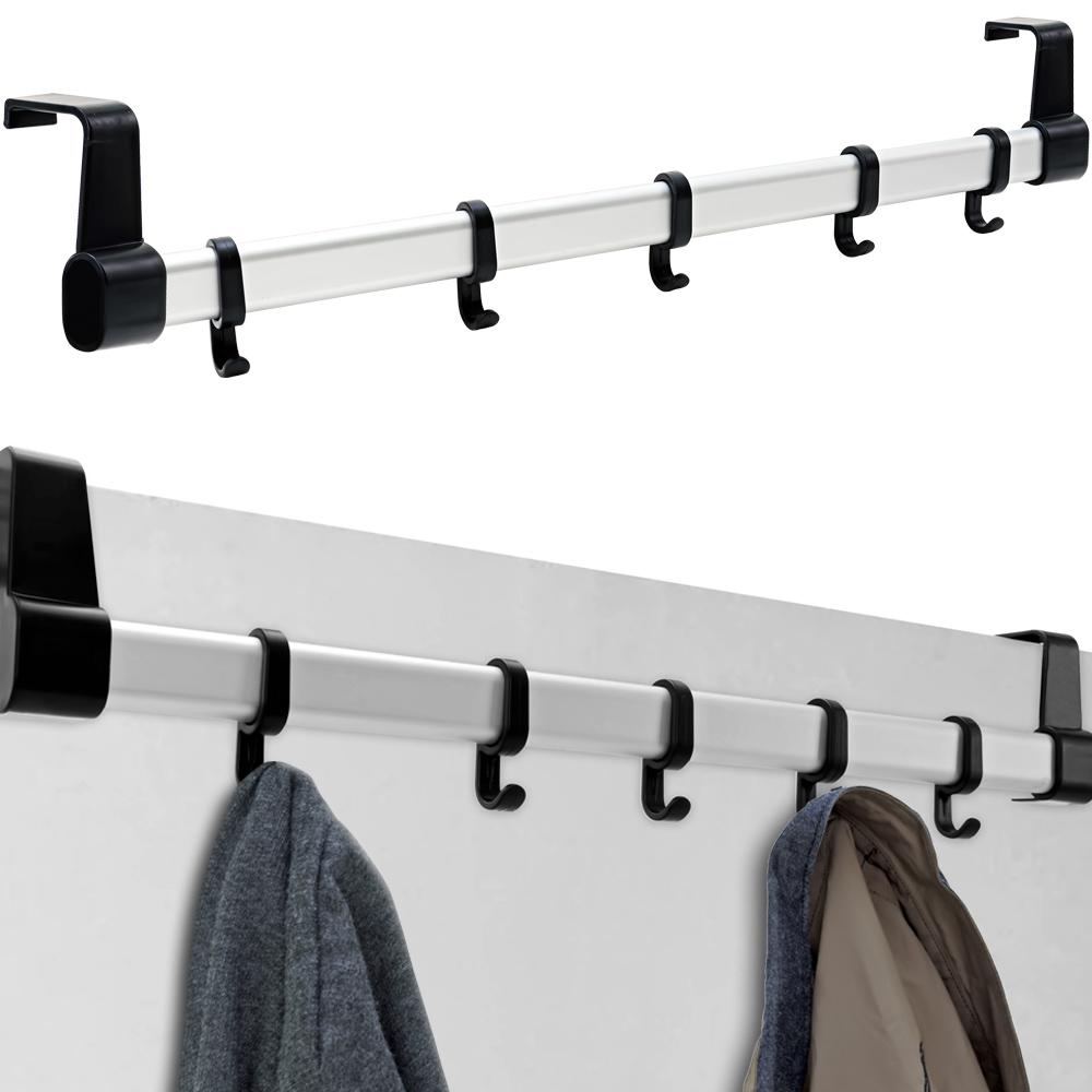 5 Hook Over Door Coat Rack Hanger Clothes Storage Space