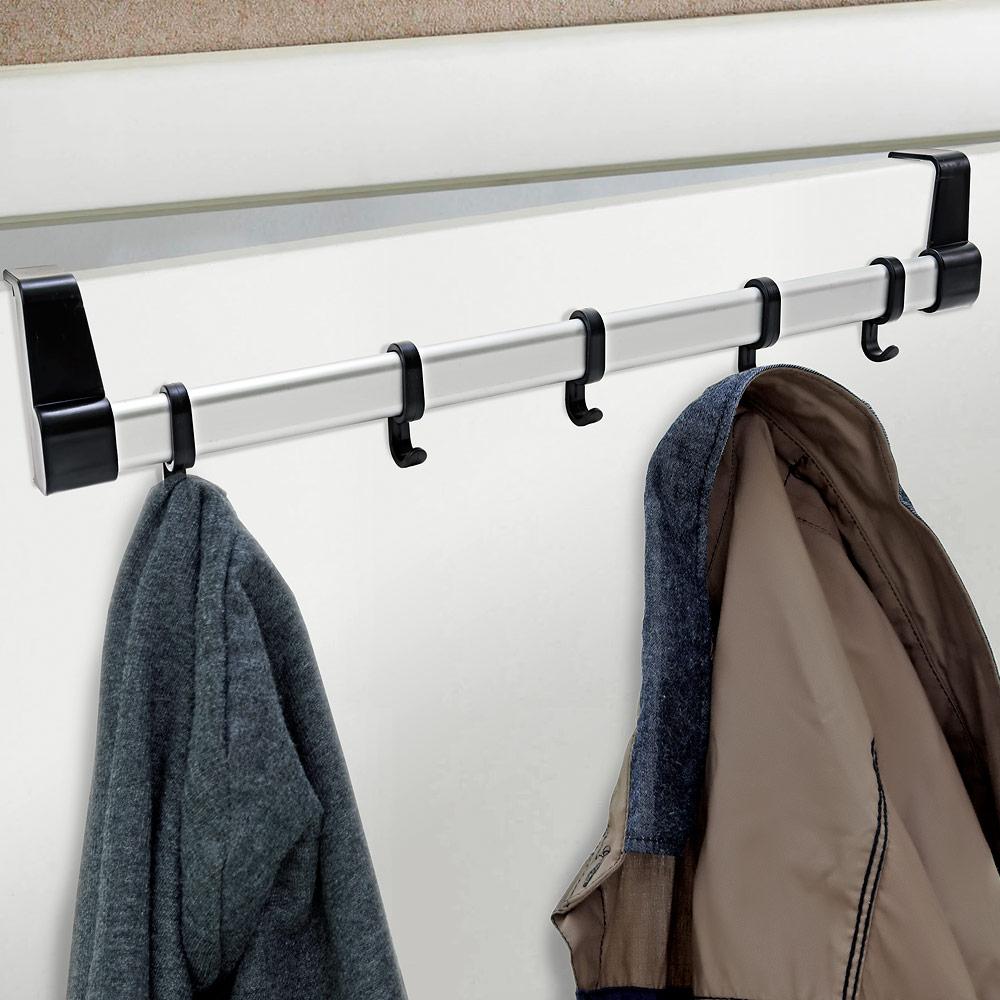 5 hook over door coat rack hanger clothes storage space for 12 hook over the door coat rack