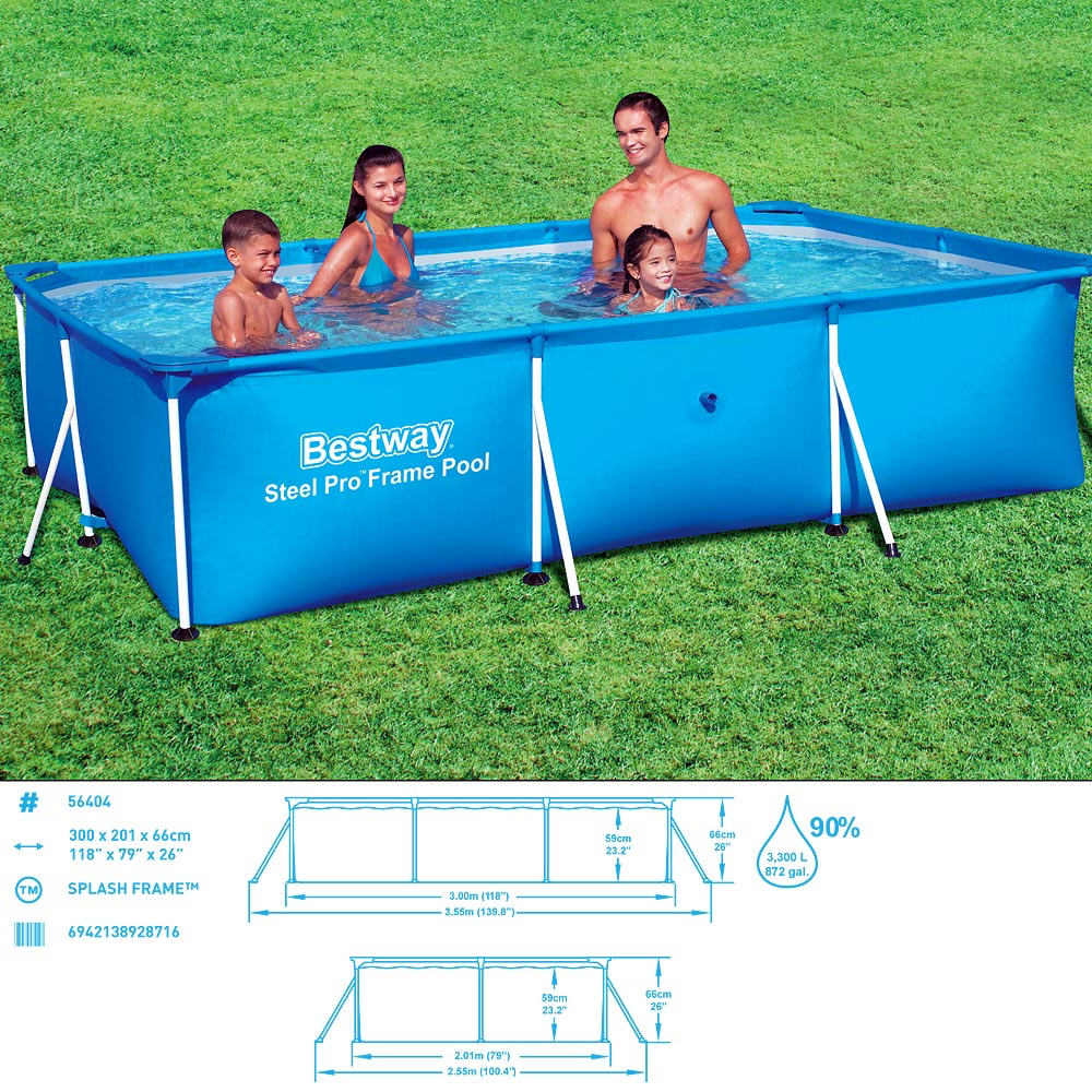 bestway frame pool swimming pool steel wall frame swimmingpool steel pro 56411 ebay. Black Bedroom Furniture Sets. Home Design Ideas