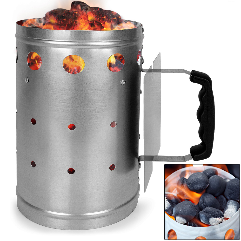 Barbecue Bbq Starter Xxl Chimney Rapid Quick Fire Start
