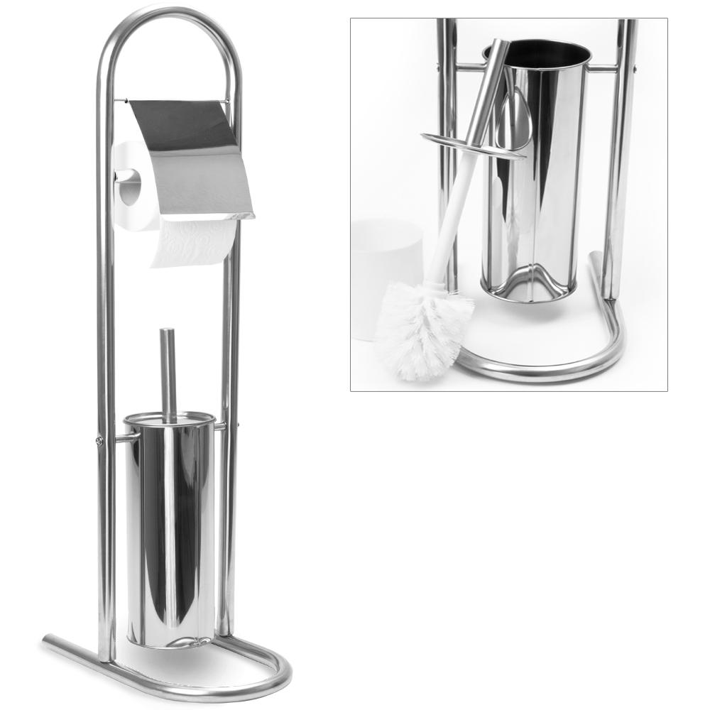distributeur porte papier toilette wc et support pour brosse acier inoxydable. Black Bedroom Furniture Sets. Home Design Ideas