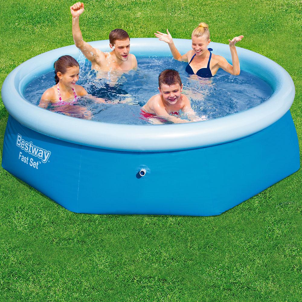 bestway fast set pool 244x66 cm schwimmbecken schwimmbad pool planschbecken ebay. Black Bedroom Furniture Sets. Home Design Ideas