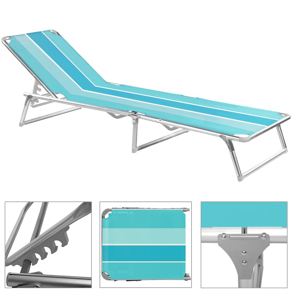 alu liege liegestuhl gartenliege sonnenliege strandliege gartenm bel klappbar ebay. Black Bedroom Furniture Sets. Home Design Ideas