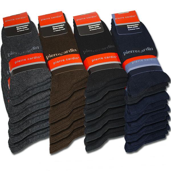 15-Paar-Pierre-Cardin-Socken-versch-Farben-Herrensocken-Struempfe-39-42-43-46