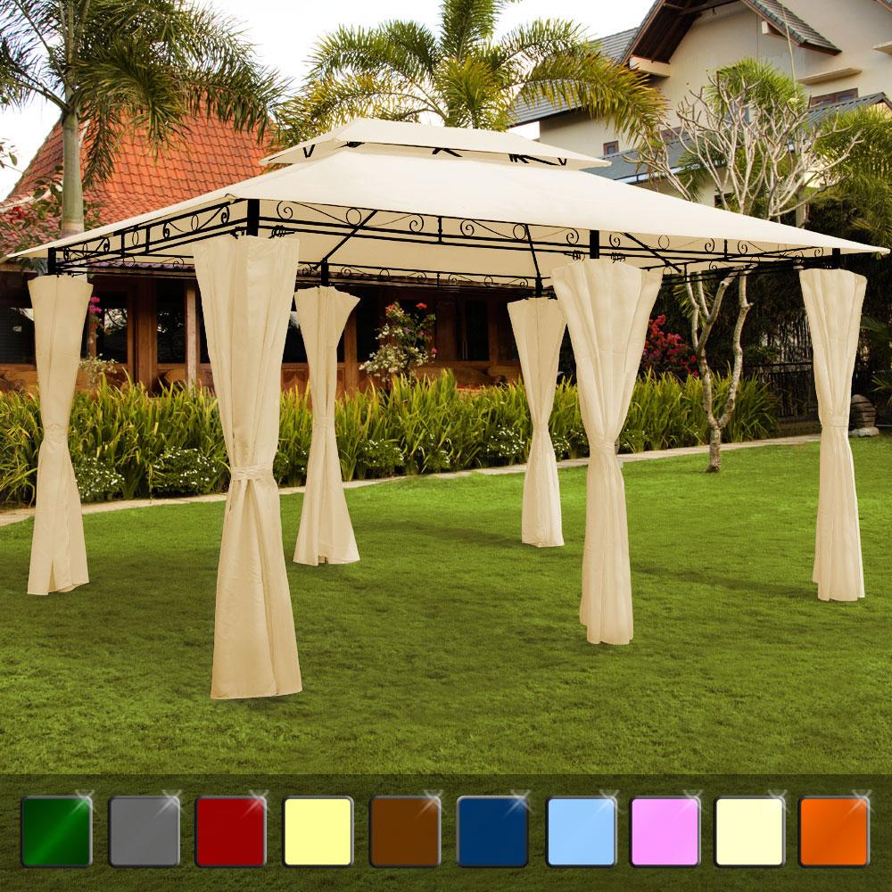 pavillon topas 4x3 pavillion gartenzelt pavilon zelt gartenpavillon gartenlaube ebay. Black Bedroom Furniture Sets. Home Design Ideas