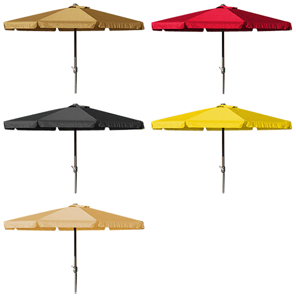 parasol jardin ombrelle exterieur terrasse pare soleil avec manivelle 350cm ebay. Black Bedroom Furniture Sets. Home Design Ideas