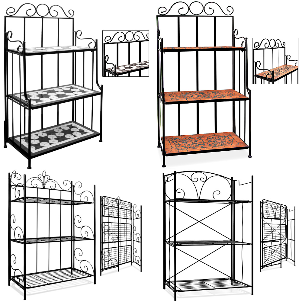 regal wandregal mosaik metallregal standregal gartenregal eisenregal badregal ebay. Black Bedroom Furniture Sets. Home Design Ideas
