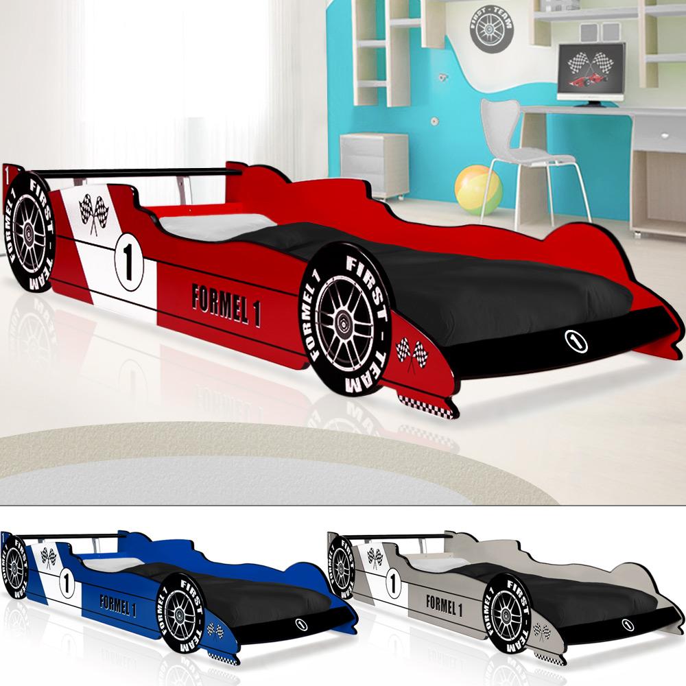 Kindermöbel bett  Autobett F1 Formel 1 Kinderbett Bett Schlafzimmer Kindermöbel ...