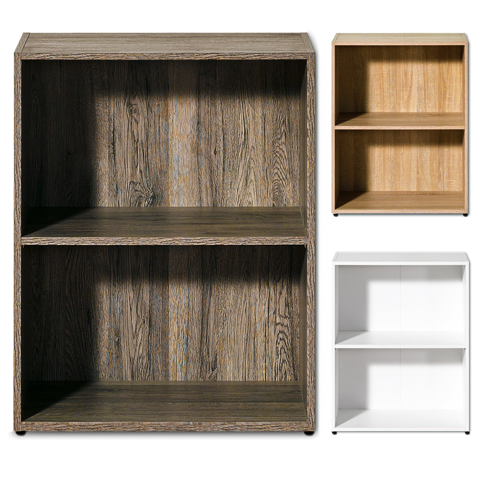 White wood shelf