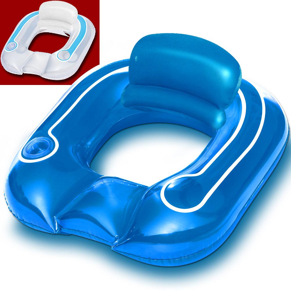 bestway schwimmsessel pool liege sessel schwimmring wassermatratze luftmatratze ebay. Black Bedroom Furniture Sets. Home Design Ideas