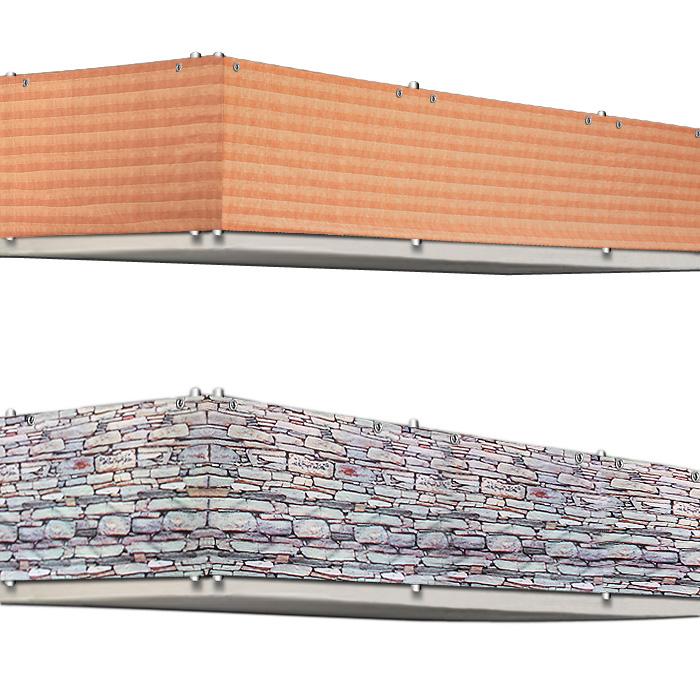 sichtschutz balkon terrasse windschutz markise zaun balkonsichtschutz schutzzaun ebay. Black Bedroom Furniture Sets. Home Design Ideas