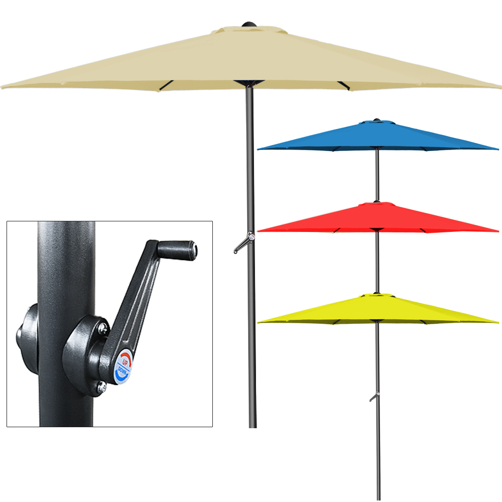 garden parasol umbrella crank handle 3m aluminium outdoor sun shade air vent ebay