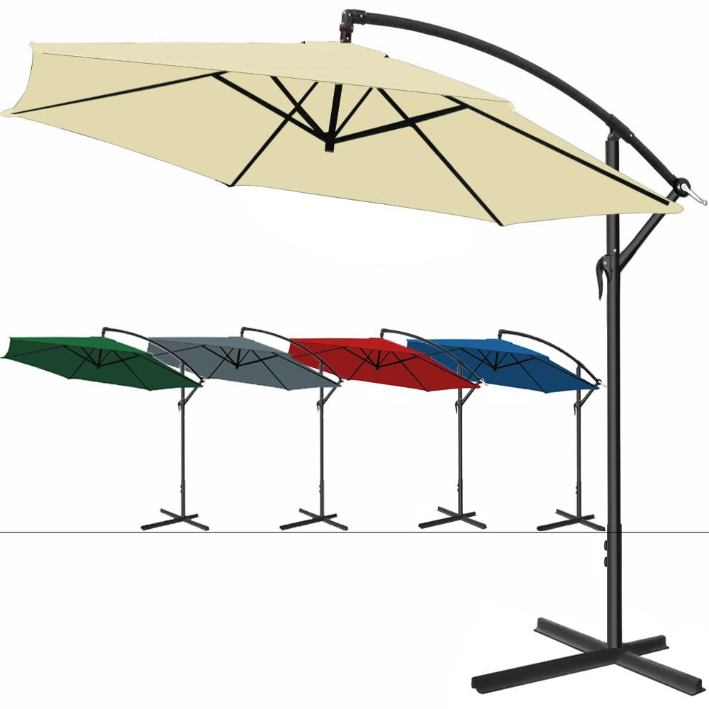 alu sonnenschirm ampelschirm 300cm kurbel schirm marktschirm gartenschirm garten ebay. Black Bedroom Furniture Sets. Home Design Ideas