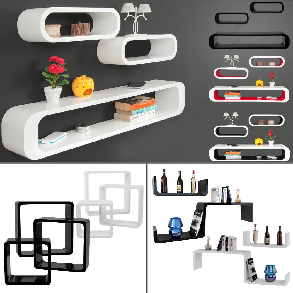 wandregal 3er set cube regal h ngeregal b cherregal. Black Bedroom Furniture Sets. Home Design Ideas