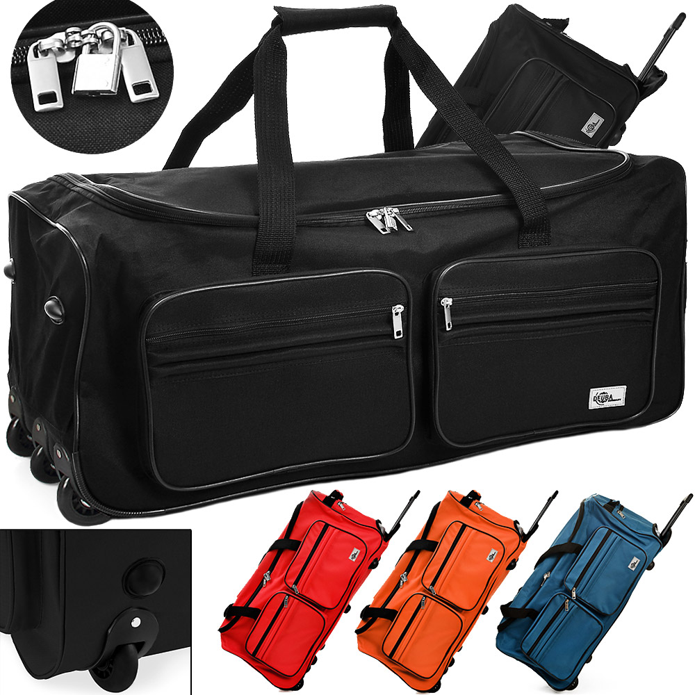 reisetasche sporttasche 100 liter trolley reisetrolley tasche koffer farbwahl ebay. Black Bedroom Furniture Sets. Home Design Ideas