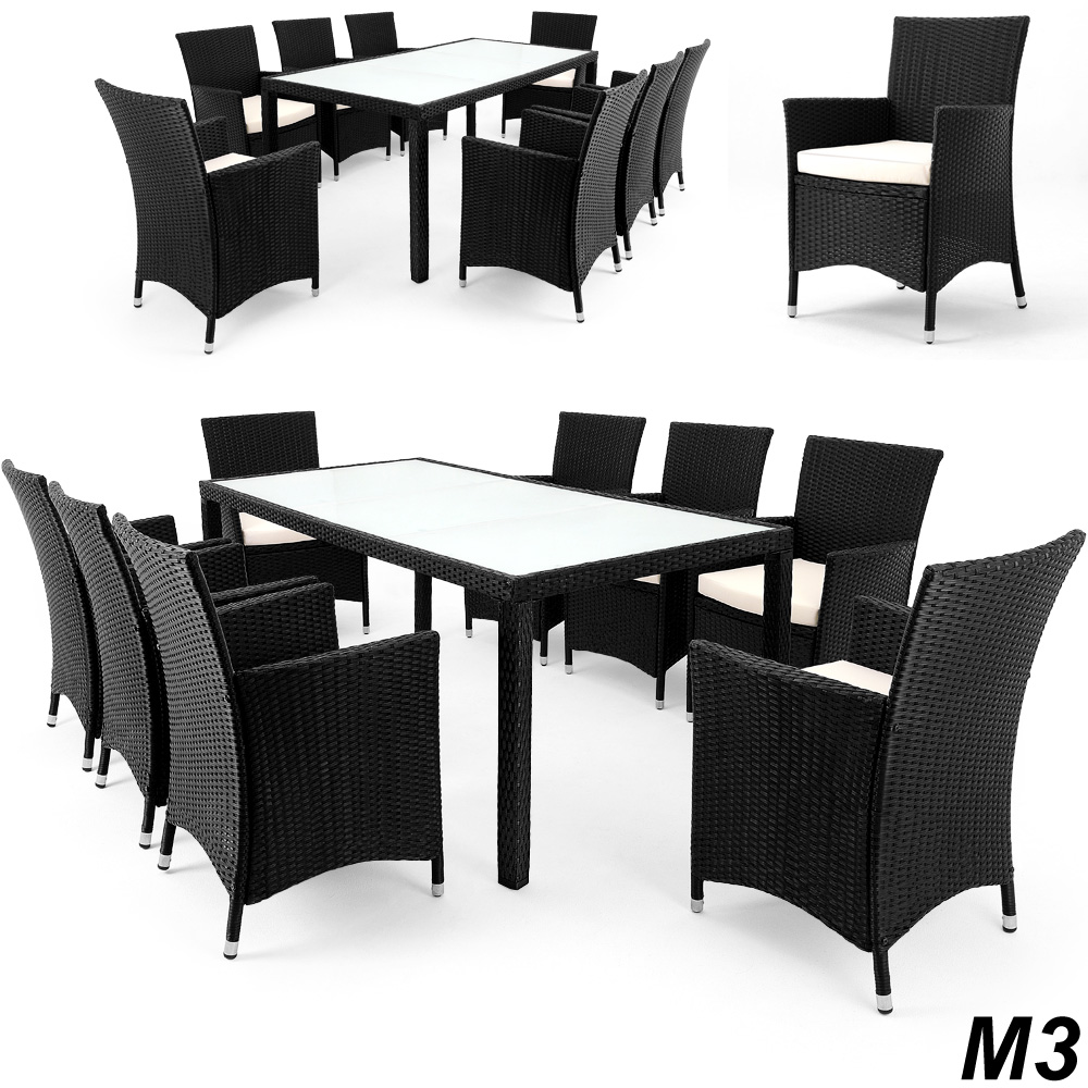 sitzgruppe lounge rattan garten m bel gartengarnitur. Black Bedroom Furniture Sets. Home Design Ideas